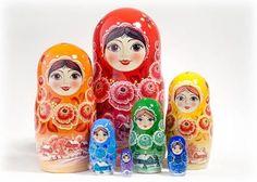 "Rainbow Doll 7pc. /8"" - Russian Nesting Doll"