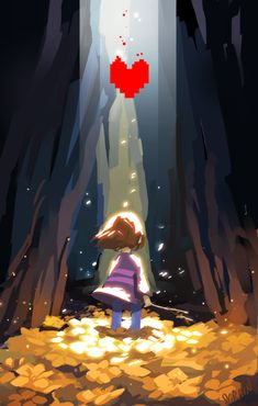 The Fallen Child sold by Serain. Shop more products from Serain on Storenvy, the home of independent small businesses all over the world. Undertale Determination, Undertale Shirt, Undertale Game, Undertale Comic, Frisk Fanart, Undertale Hearts, Character Development, Heart Art, Brown Hair