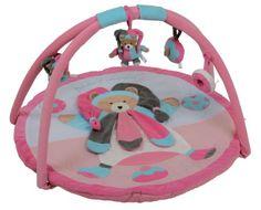 #puericultura Doudou et Compagnie DC2440 – Alfombra para bebé con arco de actividades, color rosa