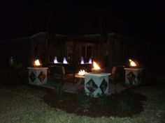 Fire Pit And 3 Fire Bowls For Yard Crasher Show.....