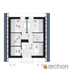 Projekt domu Dom na wzgórzu (N) - ARCHON+ Floor Plans, Houses, Plants, Projects, Homes, Plant, Home, Planting, House