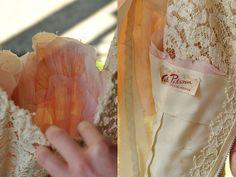 Pink Primrose vintage 1950s Cele Peterson lace dress
