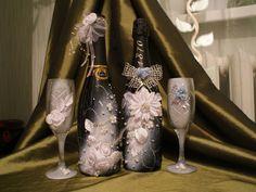 украшение бутылки на свадьбу своими руками: 16 тыс изображений найдено в Яндекс.Картинках