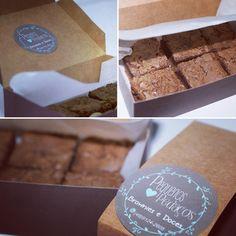 """18 curtidas, 2 comentários - Pedaçospequenos (@pequenospedacosbrownie) no Instagram: """"Caixa com mini brownies. Delícia!"""""""