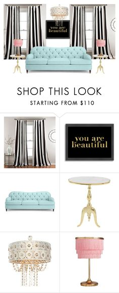 """""You are beautiful"" Living room"" by danielavaldarnini ❤ liked on Polyvore featuring interior, interiors, interior design, home, home decor, interior decorating, Lush Décor, Americanflat, Kate Spade and Uma"