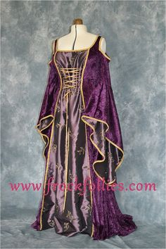 Medieval Gown Elvish Wedding Gown Handfasting by frockfollies, $307.00 Can you see it being worn on GOT?