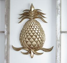 Excited to share this item from my shop: Farmhouse Decor, Gold Decor, Pineapple Decor, Pineapp Gold Pineapple Decor, Pineapple Gifts, Pineapple Kitchen, Porch Makeover, Touch Up Paint, Light Garland, Pet Bottle, Ceiling Medallions, Hanging Plants
