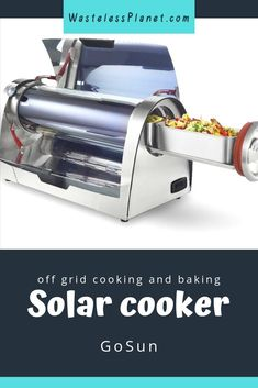 High up my wish list is this Solar Cooker from GoSun. How awesome is it to cook or bake with nothing but the power of the sun?! No waste of fuels, no bbq smoke. Simply the power of solar for your sustainable kitchen. I love it.  #WastelessPlanet #GoSun #affiliatelink #ad #solarcooker #solar #camping #offgridliving #offgrid #cooking #offgridcooking #energysaver #meal