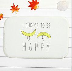 >> Click to Buy << Design Banana and text Home Door Front Non Slip Mat Carpet 40x60cm Entrance Doormats Living Room Bedroom Floor Mats Kitchen Rugs #Affiliate