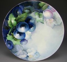Limoges Hand Painted Plums Plate | eBay