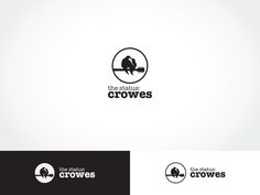 #musiclogo #design by ArtTank for pop/rock/folk #acoustic duo The Status: Crowes #DesignCrowd #band
