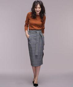 nano・universe(ナノユニバース)の「チェックハイウエストセミタイトスカート(スカート)」です。このアイテム着用のコーディネートをチェックすることもできます。