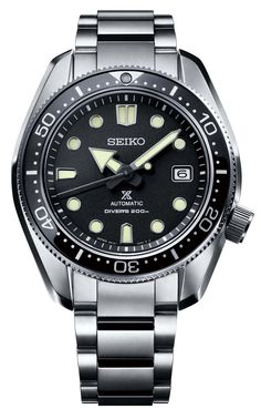 Seiko's expertise in diver's watches is celebrated in the new Prospex collection for Baselworld Six new Prospex creations honor two landmark Seiko Diver's watches. Seiko Diver, Amazing Watches, Cool Watches, Watches For Men, Timex Watches, Seiko Watches, Dream Watches, Luxury Watches, Patek Philippe