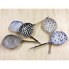 A break in the heat. Raku Pottery, Slab Pottery, Suzanne Sullivan Ceramics, Ceramic Spoons, Artsy, Friday, Clay, Fraternal Twins, Favorite Things