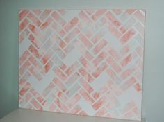 Herringbone DIY canvas art