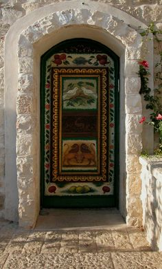 "Door in Safed, Israel (Safed is one of the four ""holy cities"" in Israel.)"