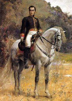 Simón Bolívar a caballo por Arturo Michelena