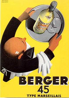 """Love the perspective on this 1930's French Art Deco """"Berger"""" poster"""