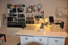 scrapbooking rooms pictures and ideas | Like the workspace | My dream scrapbook room