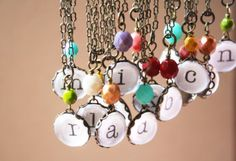 Initial Necklace- The Alphabet Game- Vintage Glass, Colored Bead- Your Choice Initial Pendant Necklace, Initial Necklaces, Valentine Wishes, Valentines, Alphabet Games, Diy Jewelry, Jewellery, Initials, Bling