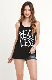 Taped Down Reckless Tank Top / Pac Sun