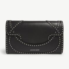 0d2342f064a4 Alexander McQueen Use Febapp10 For Extra Discount Wicca Studded Black  Envelope Calfskin Leather Clutch - Tradesy