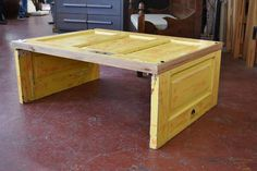 Coffee Table, Collapsible Door