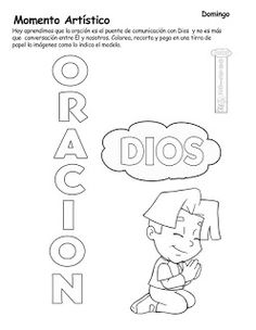Bible For Kids, Sunday School, Activities For Kids, Pray, Education, Math Equations, Chile, God, Activities For 3 Year Olds