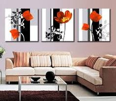 Modern Art High Quality 3 Panel Flower Painting Contemporary Floral Canvas Painting Paint By Number For Living Room Wall Picture. Subcategory: Home Decor. Purple Wall Decor, Room Wall Decor, Purple Walls, Living Room Red, Living Room Paint, Living Room Decor, Living Room Canvas Art, Room Art, Art Moderne