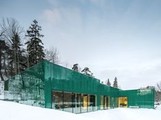 Architect Gert Wingårdh Builds a Dazzling Emerald #Office in a Swedish Cemetery - Dwell