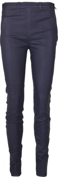 Navy leather skinnies from Acne @ Insbuyr.com  We have fallen head over heels with these - through you might too?!