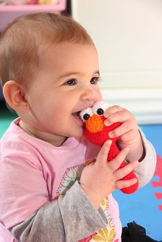 """""""La la, la la, la la, la la - Elmo song"""" - that Elmo is so adorable I want to hug him until my arms get tired!"""
