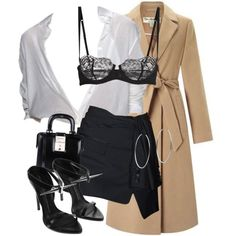 A fashion look from December 2017 featuring Miss Selfridge coats, La Perla bras and Dsquared2 shoulder bags. Browse and shop related looks.
