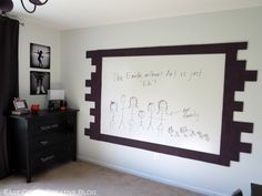 How to Paint a Whiteboard Wall - East Coast Creative Blog