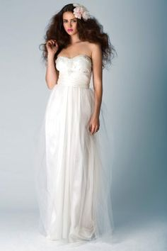 Shimmer Wrap Tulle Gown