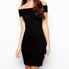 trendsgal.com - Trendsgal Slash Neck Strapless Bodycon Stretchy Hollow Out Dress - AdoreWe.com