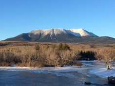 """""""Man is born to die. His works are short-lived. Buildings crumble, monuments decay, and wealth vanishes, but Katahdin in all it's glory forever shall remain the mountain of the people of Maine."""" -Per"""