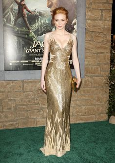 Nicholas Hoult and Eleanor Tomlinson attend the premiere of 'Jack the Giant Slayer' in Los Angeles. Nicholas wore a Tom Ford suit and Eleanor wore an Azzar