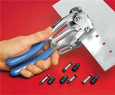 pretty good looking punching tool, goes all the way down to a punch! looks great for riveted mail work Cool Tools, Diy Tools, Hand Tools, Craftsman Power Tools, Hobby Tools, Punch Tool, Metal Tools, Jewelry Making Tools, Hobby Shop