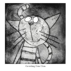 Cat Etching - Lucy Gell!