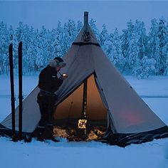 Quick set-up and weather-tested construction make these Swedish tents fit for the extremes.