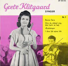 """Grete Klitgaard synger nr. 2. En EP, der indeholder """"I dine blå øjnes blå"""".  Har omslaget - er på udkig efter singlen."""
