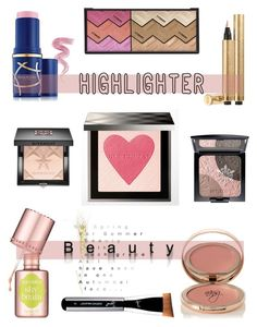 """Highlight Your Beauty"" by nans-g ❤ liked on Polyvore featuring beauty, Benefit, Charlotte Tilbury, ArtDeco, Yves Saint Laurent, Burberry, Givenchy, Elizabeth Arden, By Terry and Beauty"
