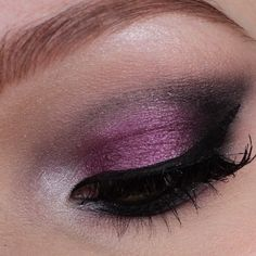 purple/black/silver smokey eyes
