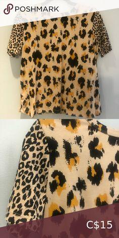Leopard Zara Top Never worn T-shirt from Zara. Zara Tops Tees - Short Sleeve