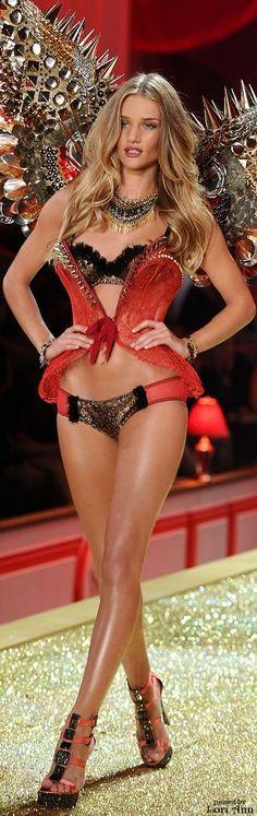 Model: Rosie Huntington-Whiteley in Victoria's Secret Fashion Show 2010