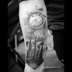 moon and tree tattoo - Google Search