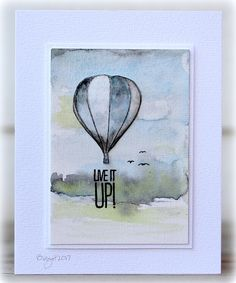 """My card for a CAS challenge """"Ballons""""! Used this set from Penny Black Live it Up Thanks!"""