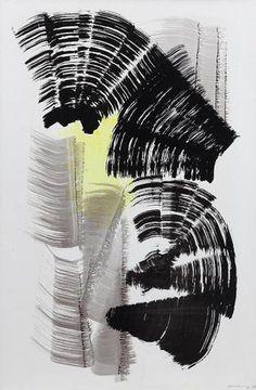 Hans HARTUNG (1904-1989) P1967-128. Composition, SBD et datée 67. Acrylique sur carton baryte signée en bas a droite. 73 x 50 cm   Estimation : 25 000/30 000 € Mis en vente le dimanche 9 août 2015 par l'Etude de Provence à Cannes