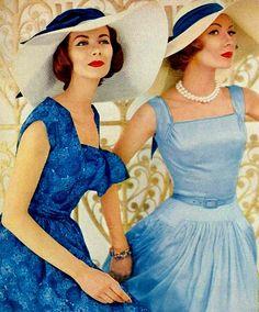 Fancy Hats vogue 1956